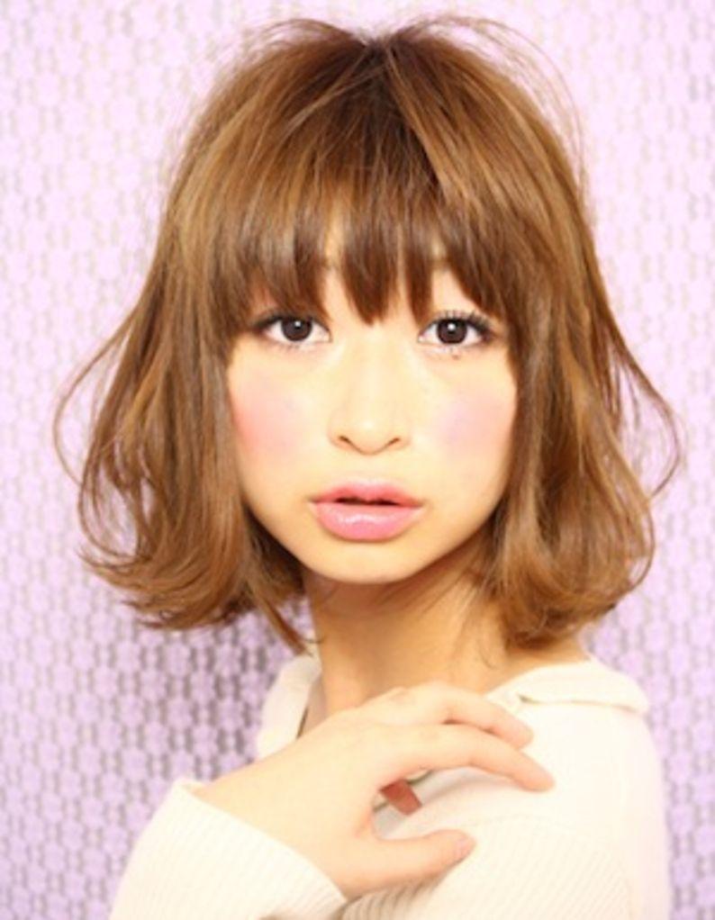 小顔ミディアムボブパーマ髪型 Ke 36 ヘアカタログ 髪型 ヘア