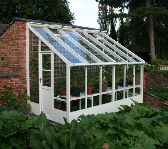 Smaller Greenhouse I Would Love To Build One Of These Off The Back Of The Garage Traditional Greenhouses Lean To Greenhouse Greenhouse Plans