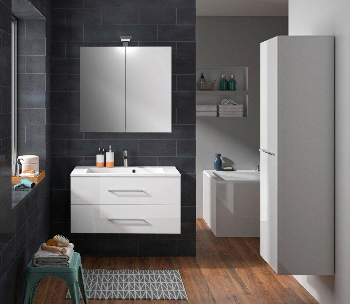 Allibert Badmobel Set Verone Gesamtbreite 160 Cm Online Kaufen Mit Bildern Badmobel Set Waschtisch Set Badezimmer Set
