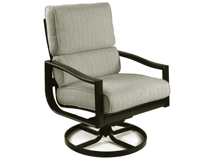 Winston Quick Ship Belvedere Cushion Aluminum Ultra Swivel Tilt Lounge Chair Modern Patio Furniture Furniture Outdoor Furniture Collections