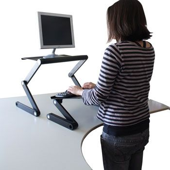 Perfect WorkEZ Standing Desk   Laptop/Monitor Stand Plus Keyboard Tray U0026 Mouse Tray  Office