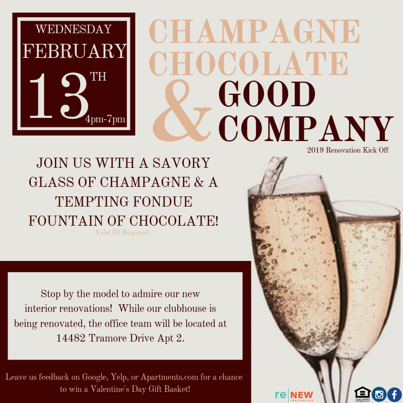Join Us For A Night Of Champagne, Chocolate, And Good