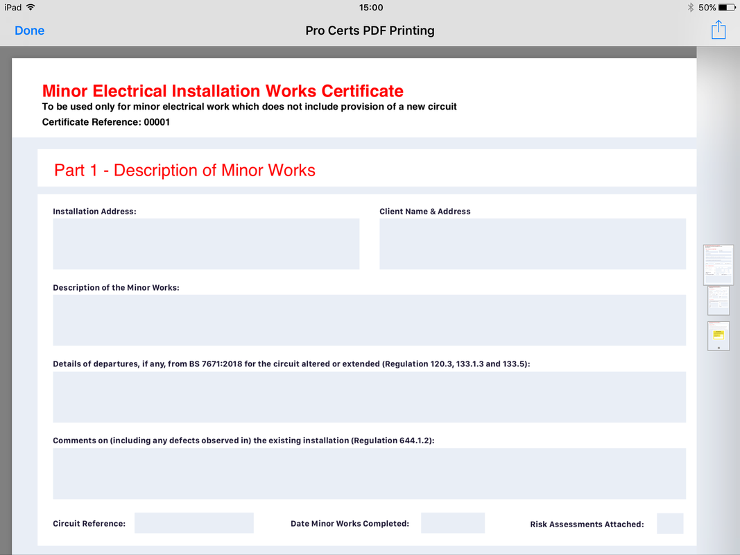 A Quick Guide On How To Complete An Electrical Minor Works Certificate In Under 3 Minutes Minor Works Certificates Are Used When Altering Or A Electrical Installation Certificate Templates Templates
