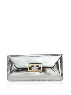 15cb441323b TORY BURCH Gigi Metallic Leather Envelope Clutch.  toryburch  bags  leather   clutch  metallic  hand bags