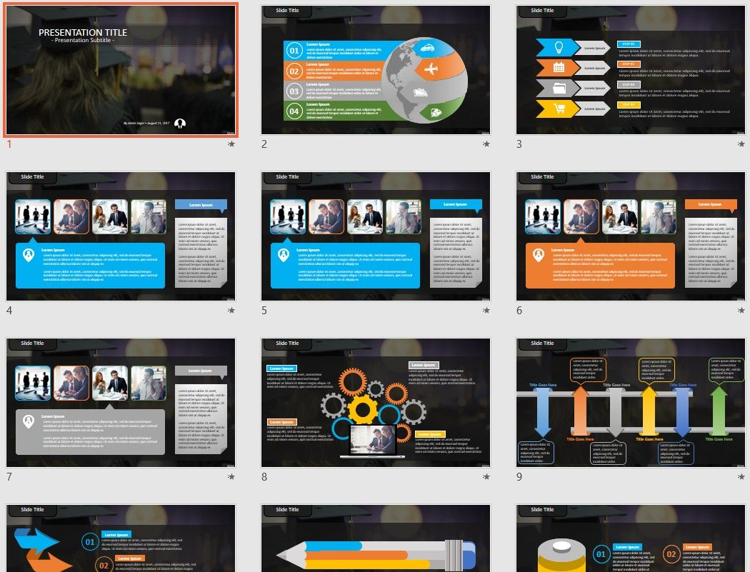 graduation PowerPoint by SageFox | Free PowerPoint Templates by ...