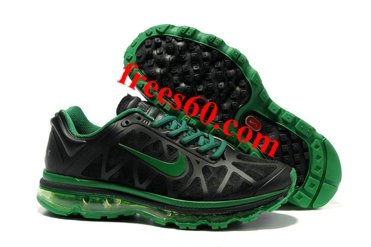 frees60.com for half off nike shoes $59.72 , Mens Nike Air Max 2011 Black Green Shoes