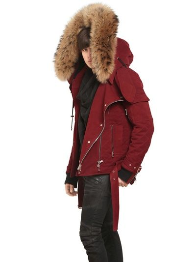 cheapest price popular brand new products BALMAIN HOODED RACCOON FUR AND DOWN JACKET   Jackets ...