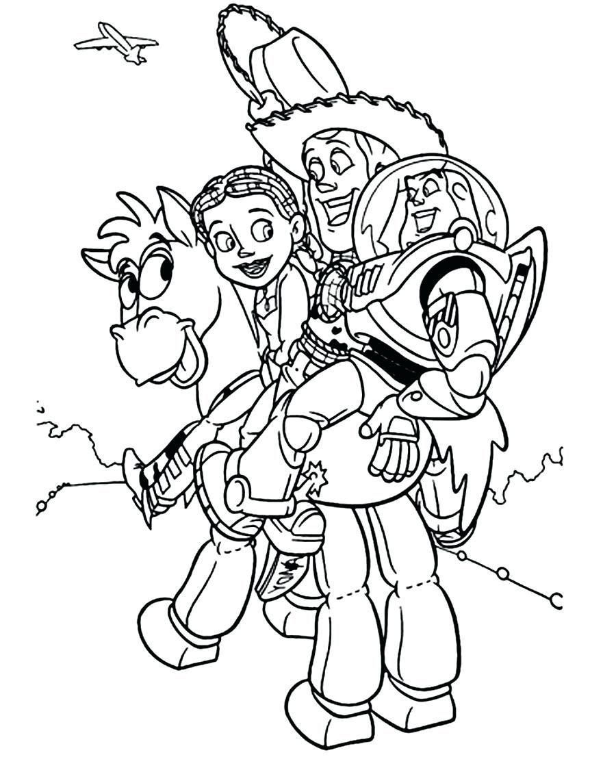 Toy Story 4 Coloring Pages Educationlevel Woody
