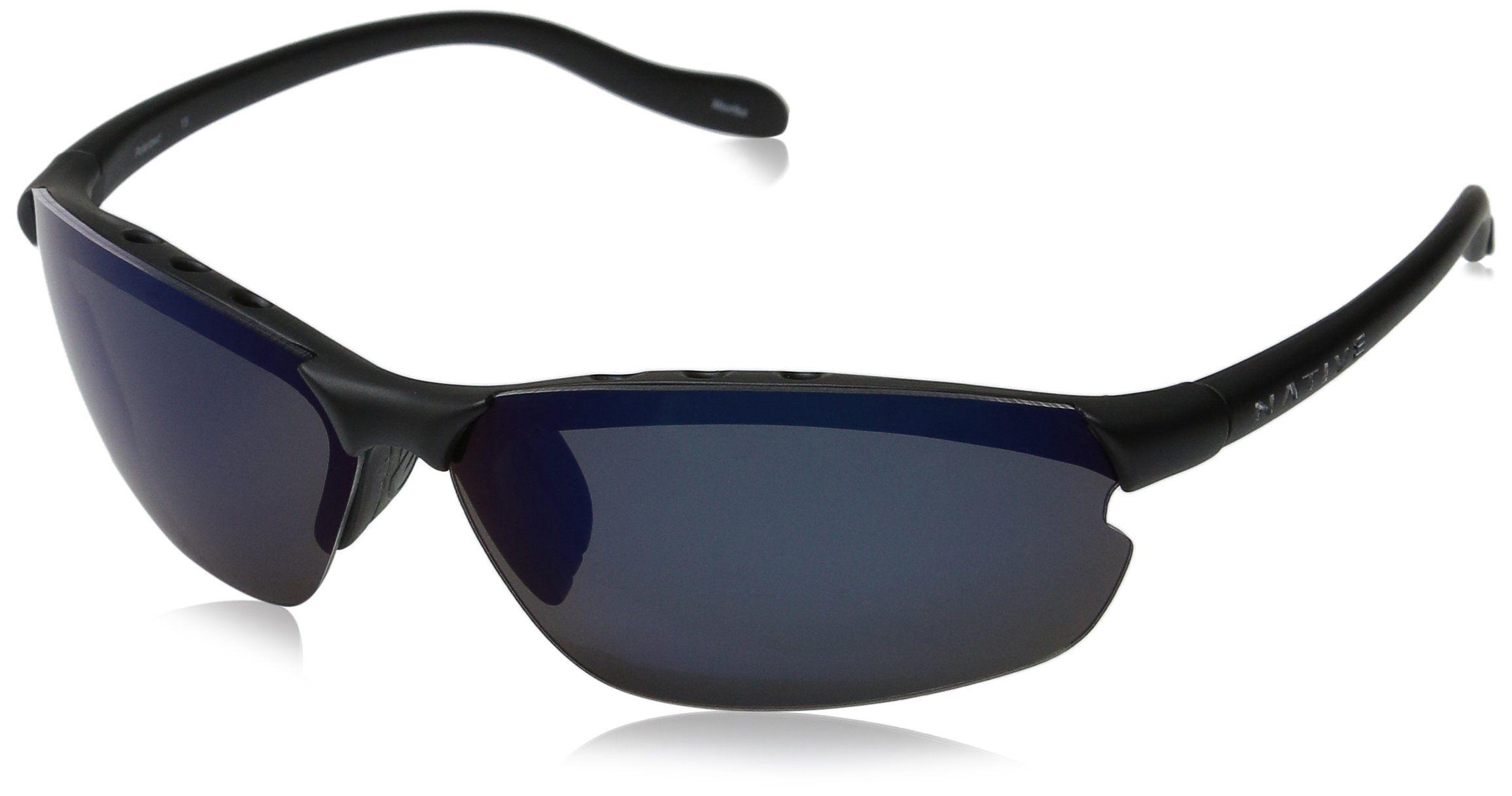 411341a15d94 Native Eyewear Dash XP Sunglasses, Asphalt with Blue Reflex Gray Lens.  Interchangeable Lenses. Vented to eliminate fogging. Weighs less then 1  ounce.