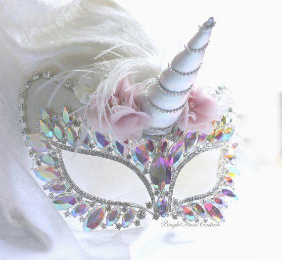 170de342a225 Unicorn Mask - Mask - Masquerade mask - Party mask - eye mask - Wedding mask  - New Years mask - Hall