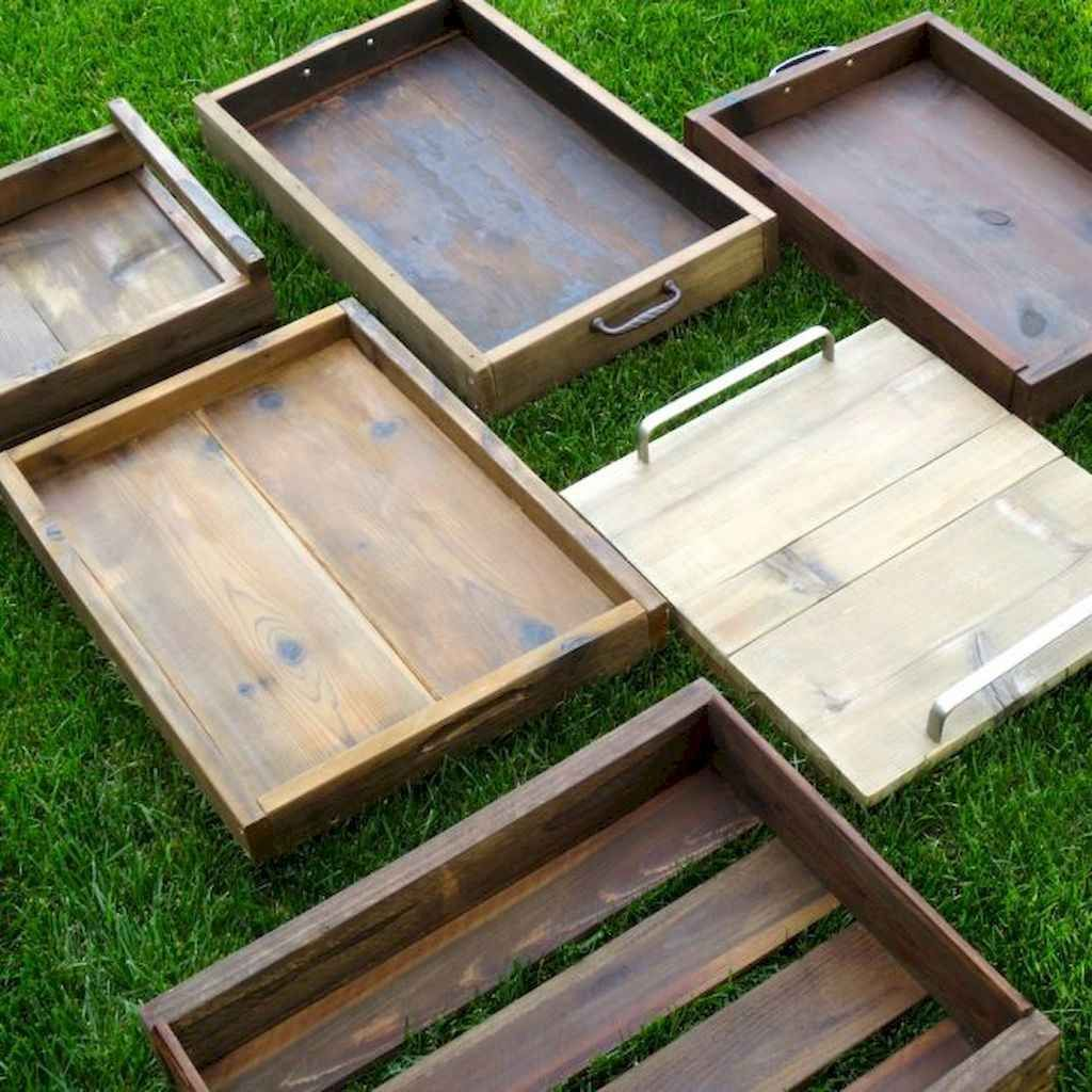10+ DIY Serving Tray Design Ideas in 2020 Reclaimed wood
