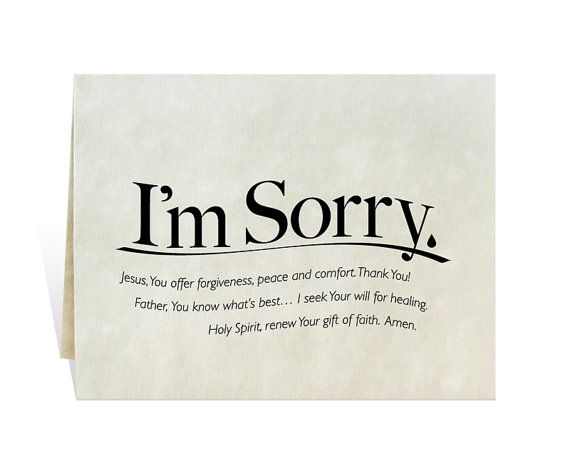 Im Sorry printable card clip art prayer for apology – Free Printable Apology Cards