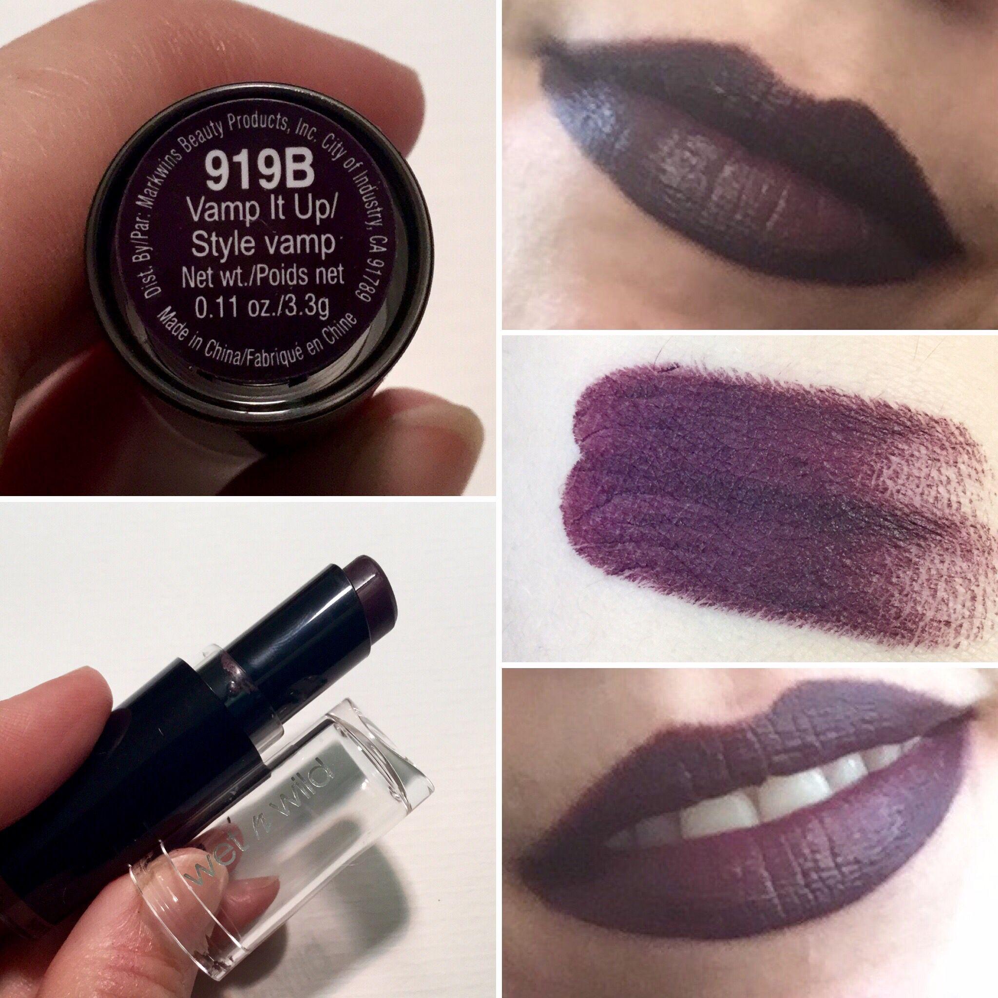 wet n wild dark purple lipstick vamp it up what a pretty color