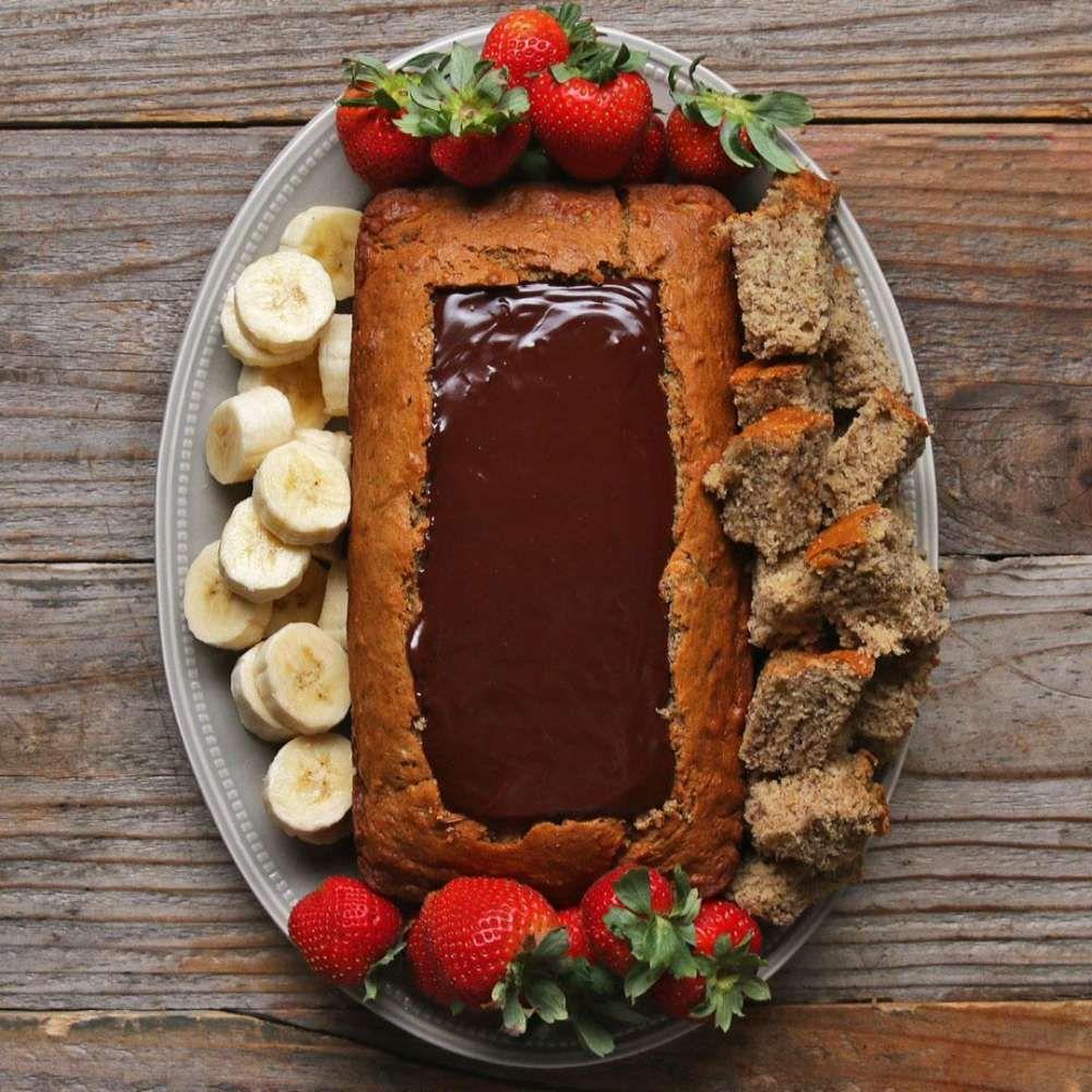 Chocolate Fondue Banana Bread Boat Recipe With Images Bread