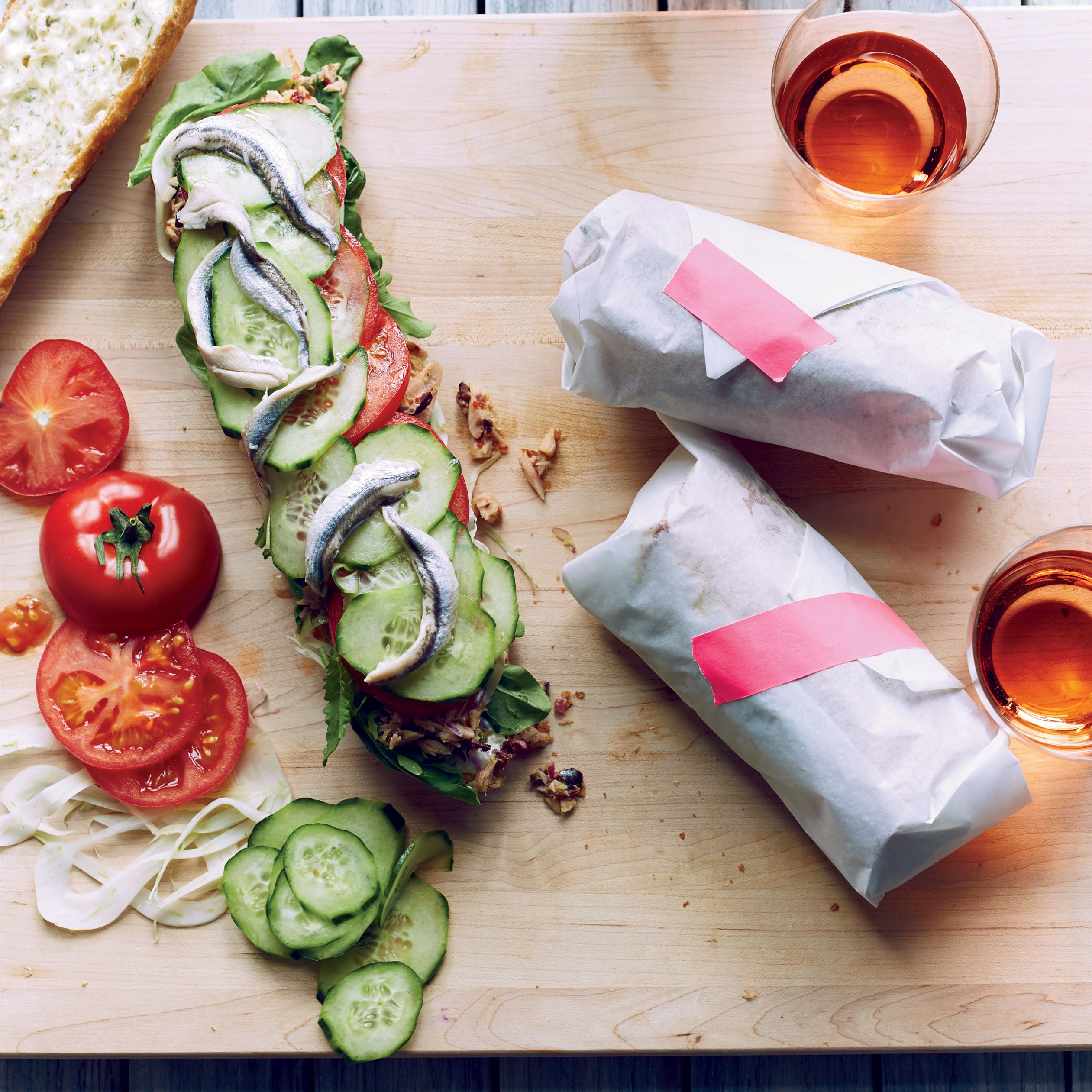 Provençal Tuna Sandwiches with Fennel Mayo | Food & Wine ~~ Recipe by drop-dead-gorgeous Chef Curtis Stone :))