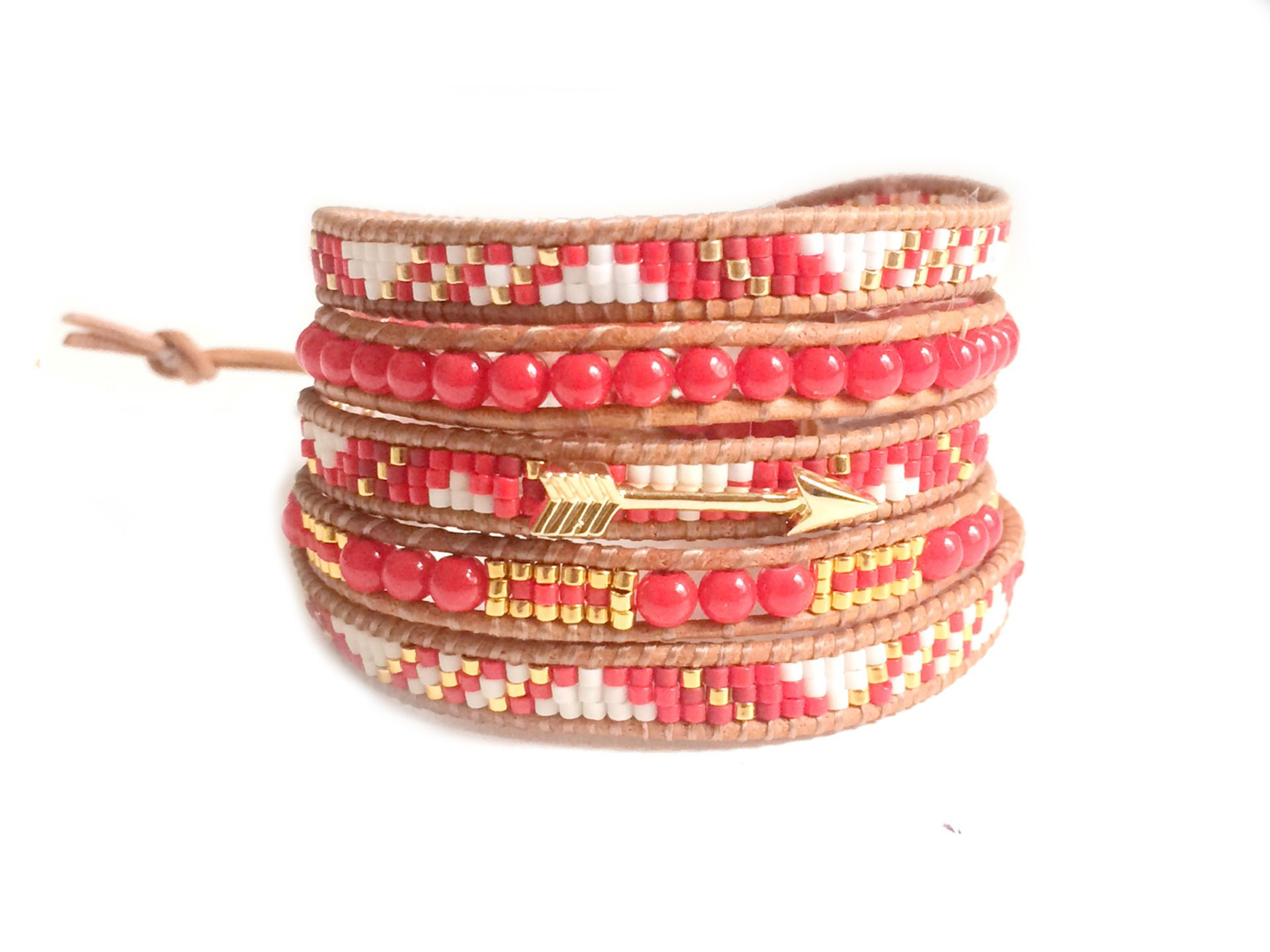 Bracelet manchette en perles miyuki