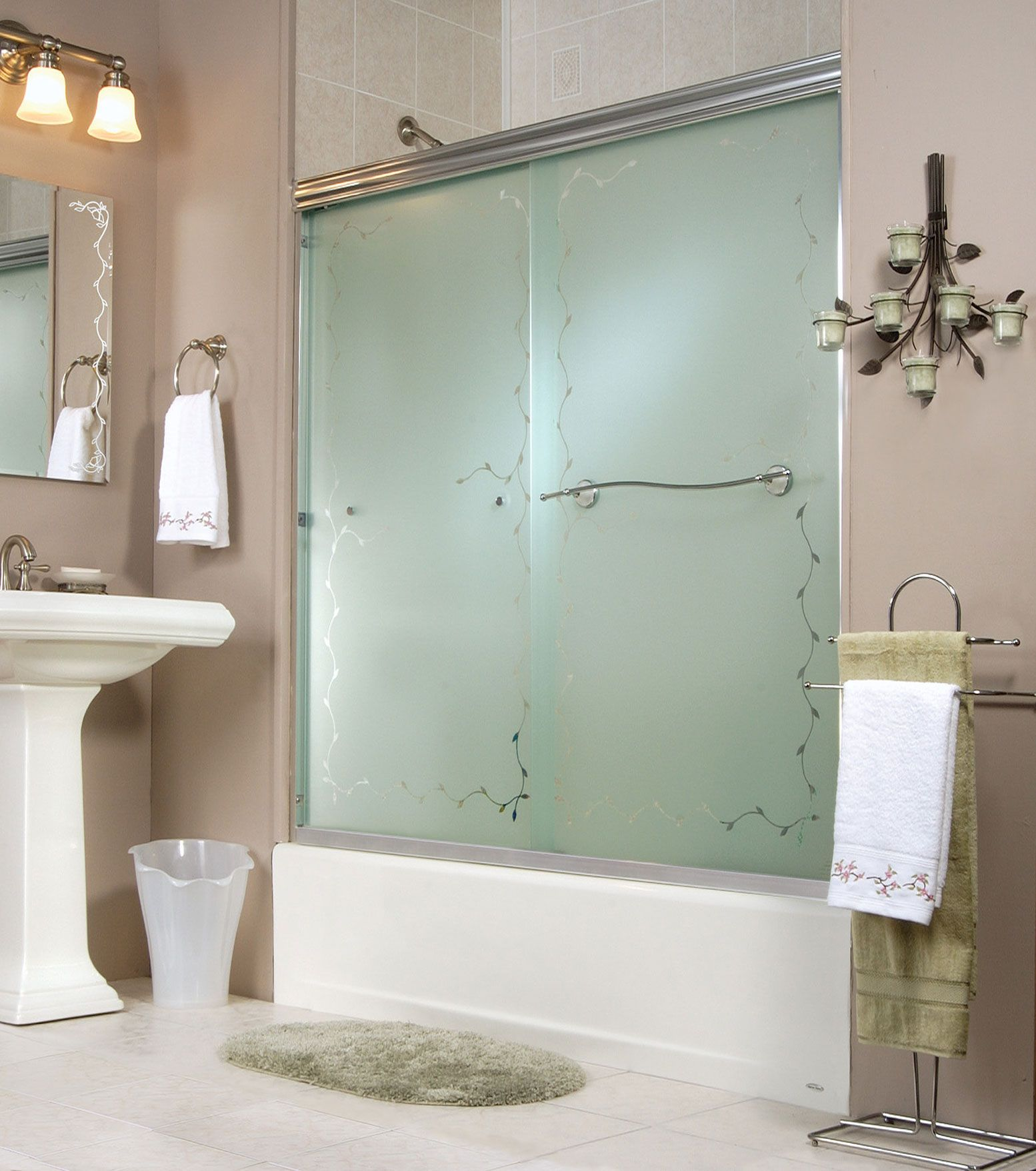 2-panel frameless sliding door Tub showers door - Keystone by MAAX ...