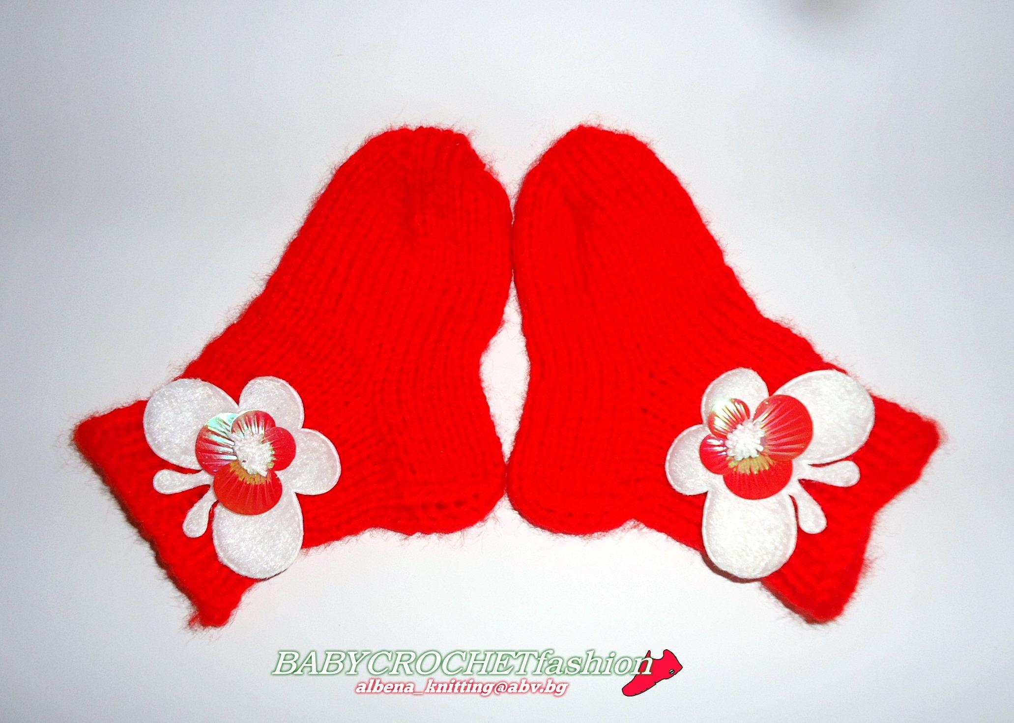 Knitted Baby Socks Baby Christmas Socks Knitting Socks Red Baby