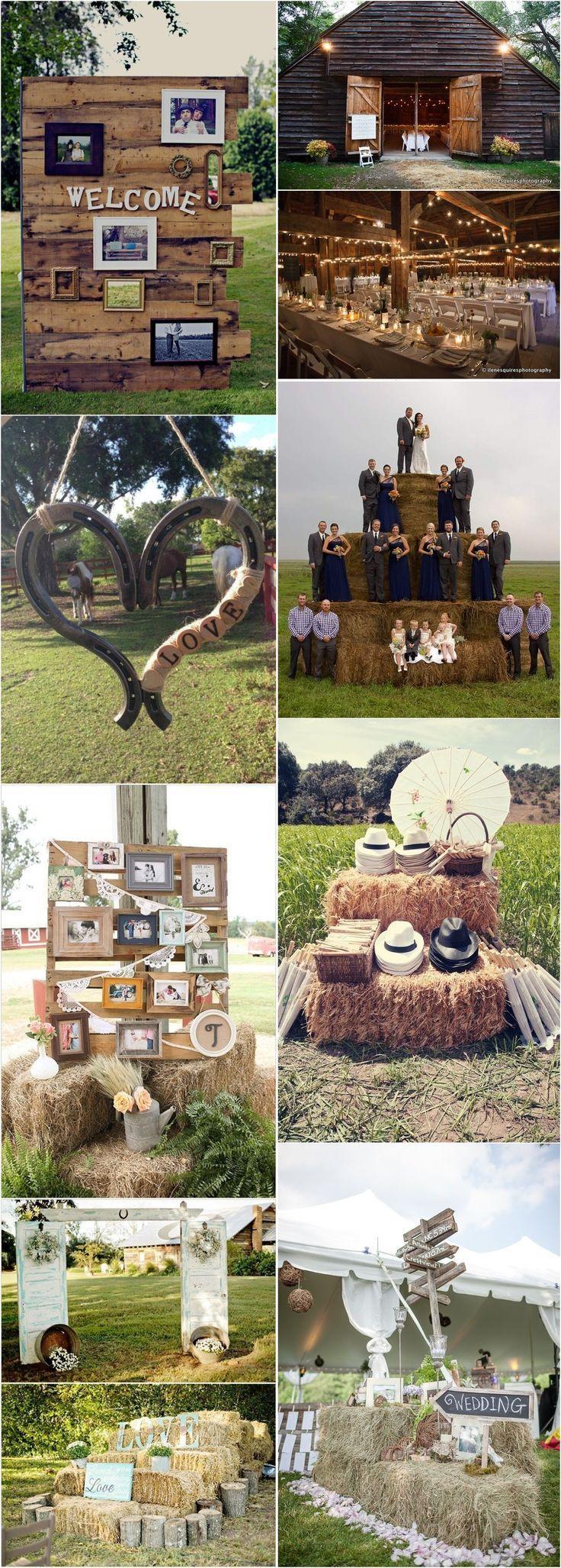 25 wunderschöne rustikale Hochzeitsideen für Ihren großen Tag - Cindel's everything Rustic & Bling wedding :) - Hochzeit