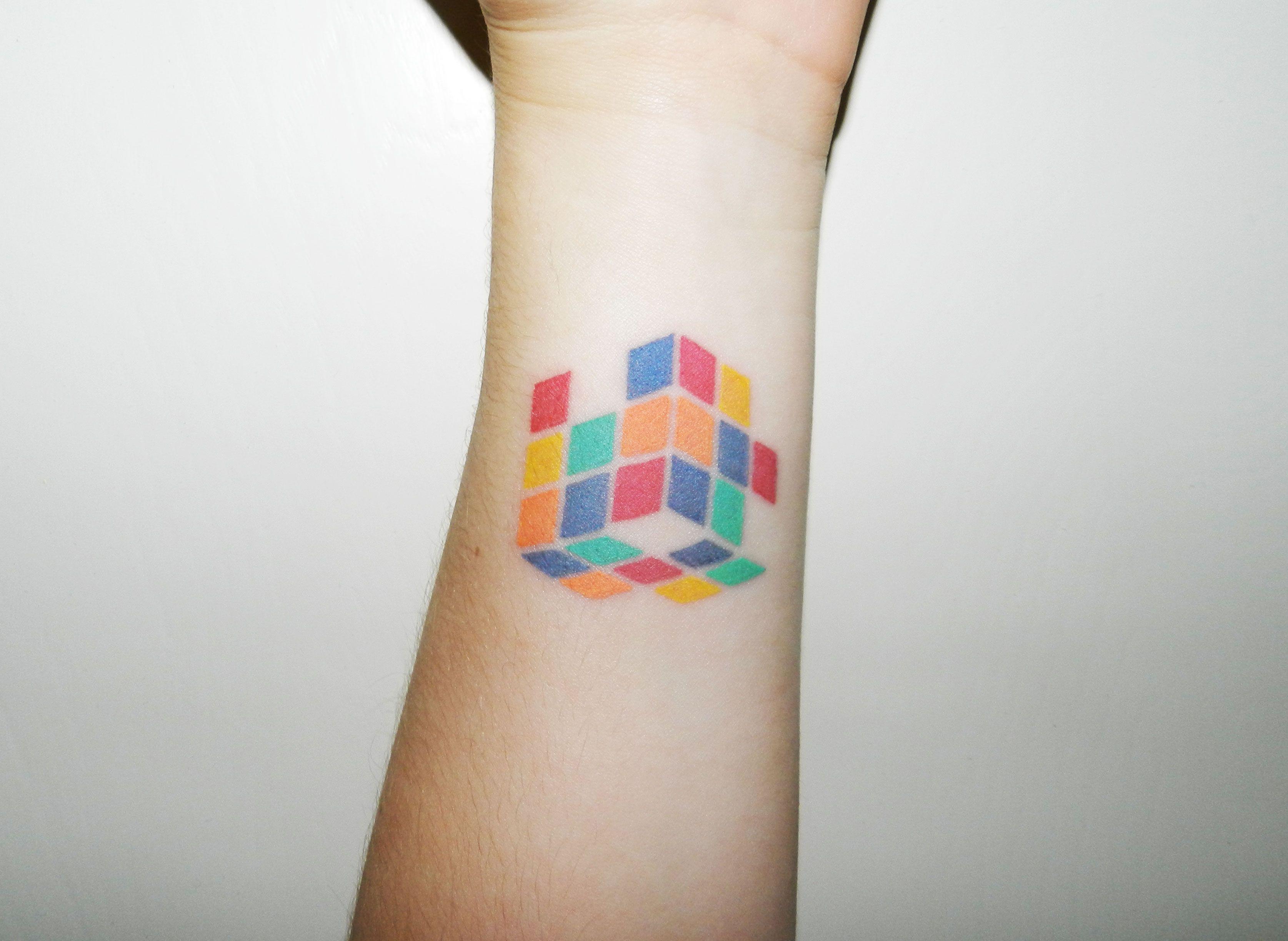 Tool box tattoo by mark old school tattoos by mark pinterest - Minimalistic Rubik S Cube Kayden Digiovanni At Dallas Tattoo