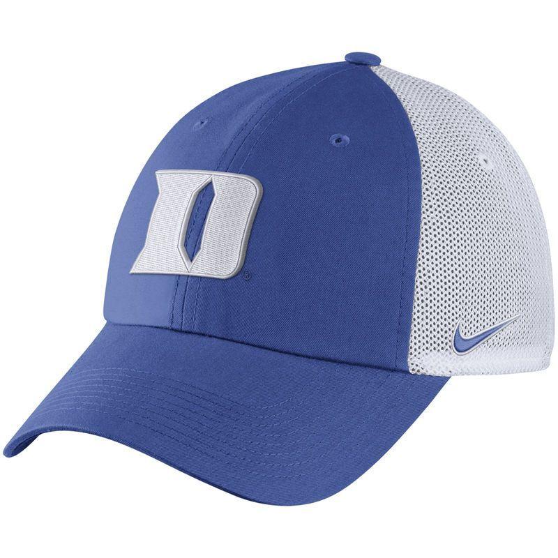 hot sale online 64e3a 5a0f4 Duke Blue Devils Nike Heritage 86 Trucker Adjustable Hat - Royal