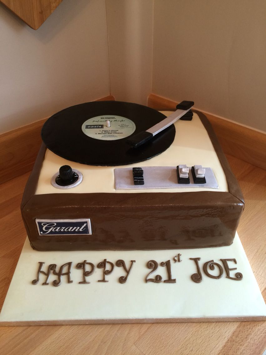 Awesome Record Player 21St Birthday Cake Music Themed Cakes Music Birthday Cards Printable Benkemecafe Filternl