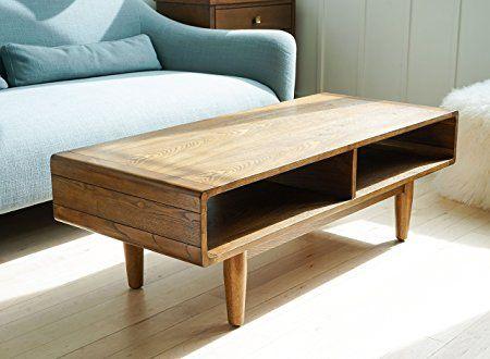 Haven Home Zane Mid Century Coffee Table Walnut Rectangular