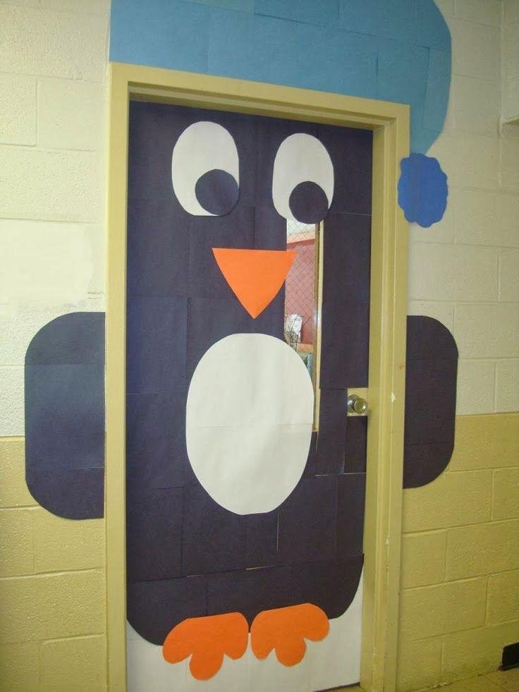 C mo decorar una puerta en navidad christmas pinterest Como decorar una puerta