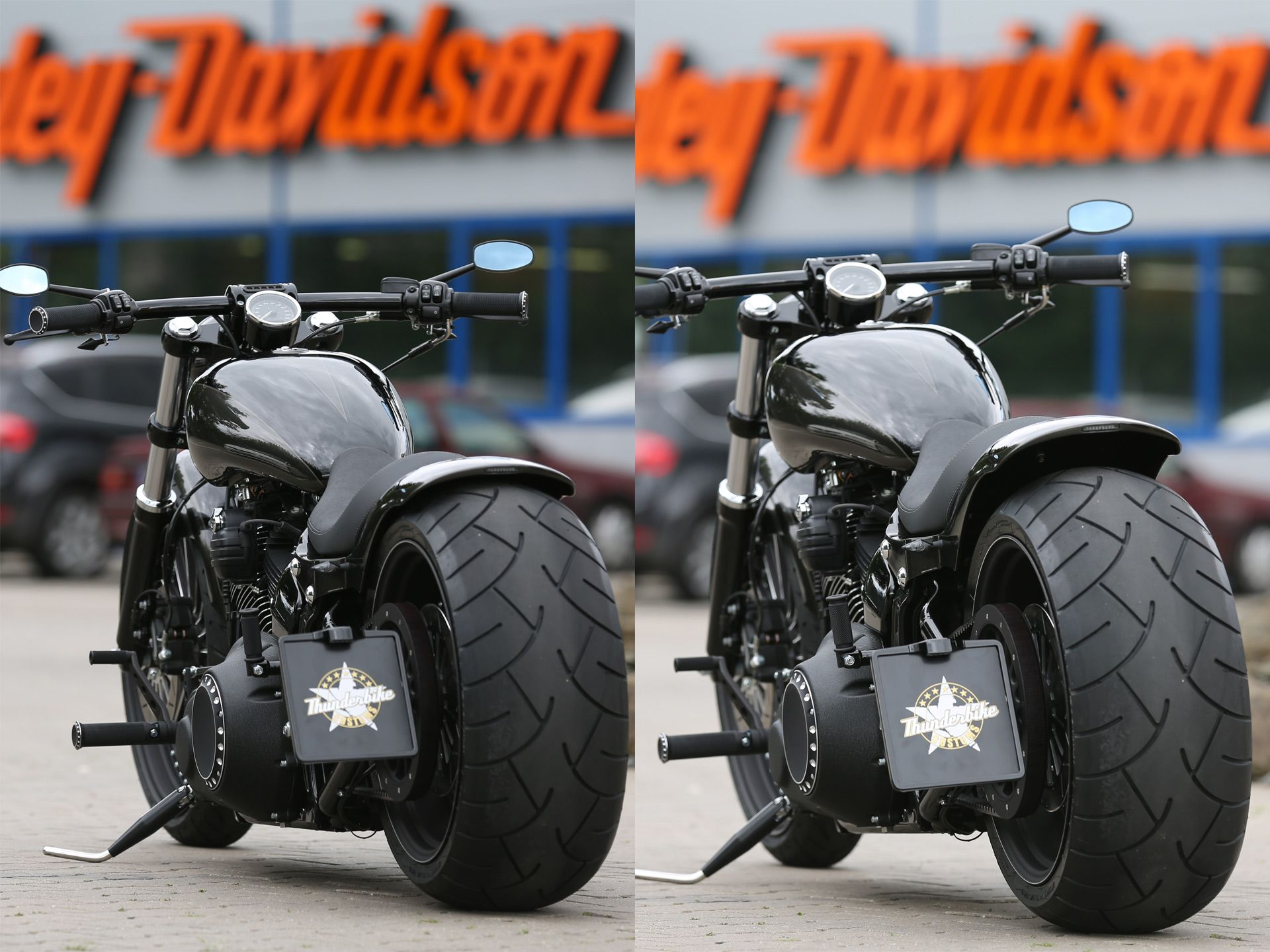 Air ride suspension kit for breakout Harley, Air ride
