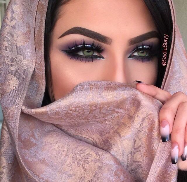 Purple Arabic Eye With Images Hair Makeup Beautiful Makeup