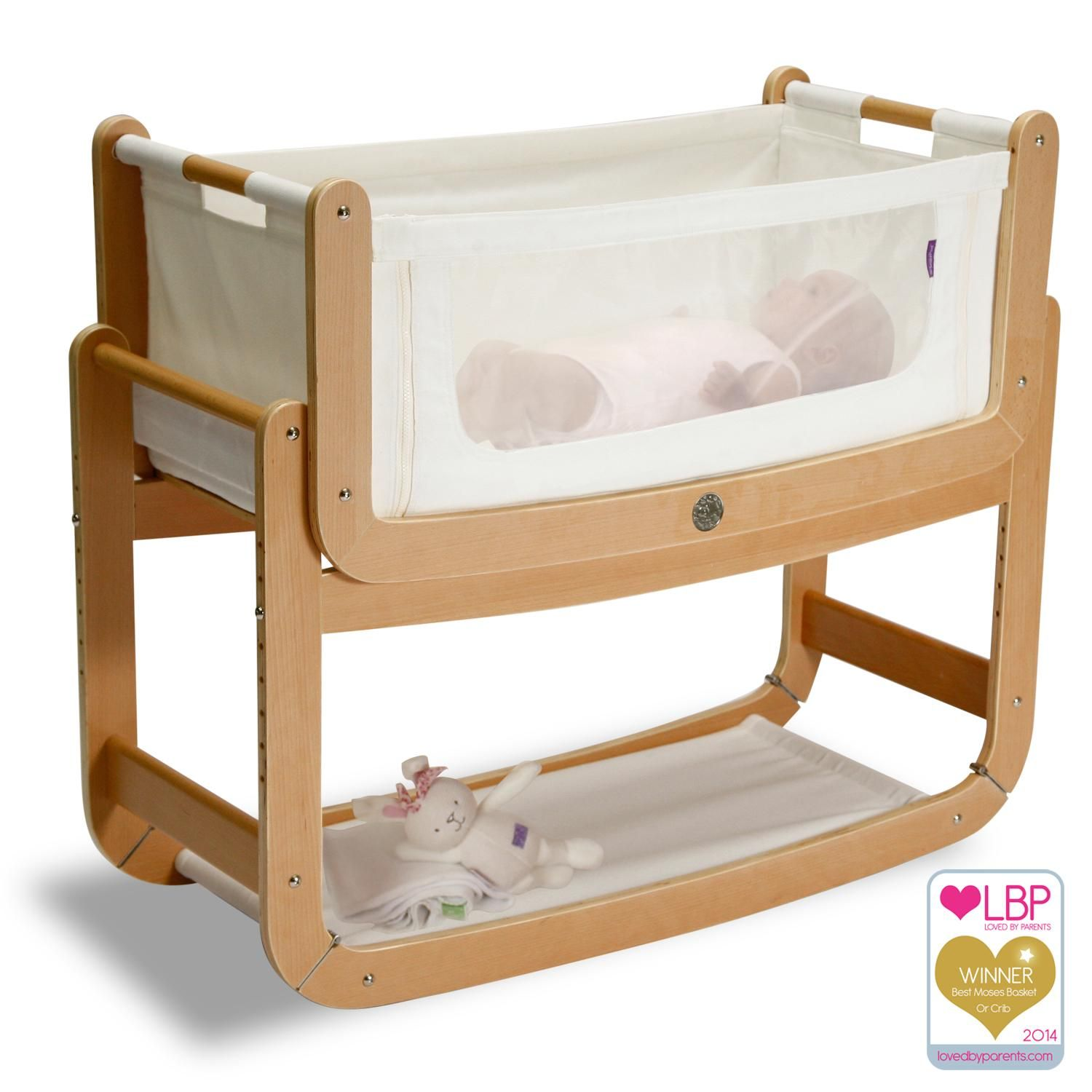 The Little Green Sheep Snuzpod Bedside Crib And Mattress