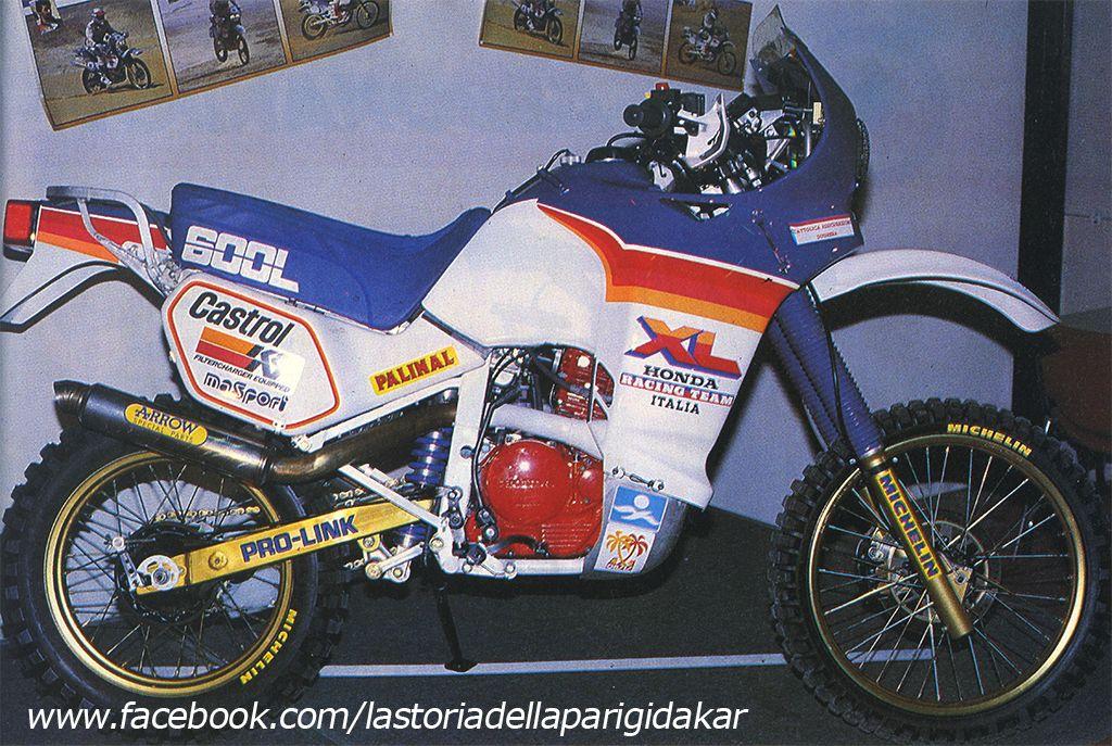 honda xl 600l 1986 la storia della parigi dakar dakar pinterest honda honda motorcycles. Black Bedroom Furniture Sets. Home Design Ideas
