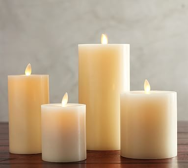 Pottery Barn Flameless Candles Awesome Premium Flicker Flameless Wax Candle Ivory  3X6  Wax Wax Candles