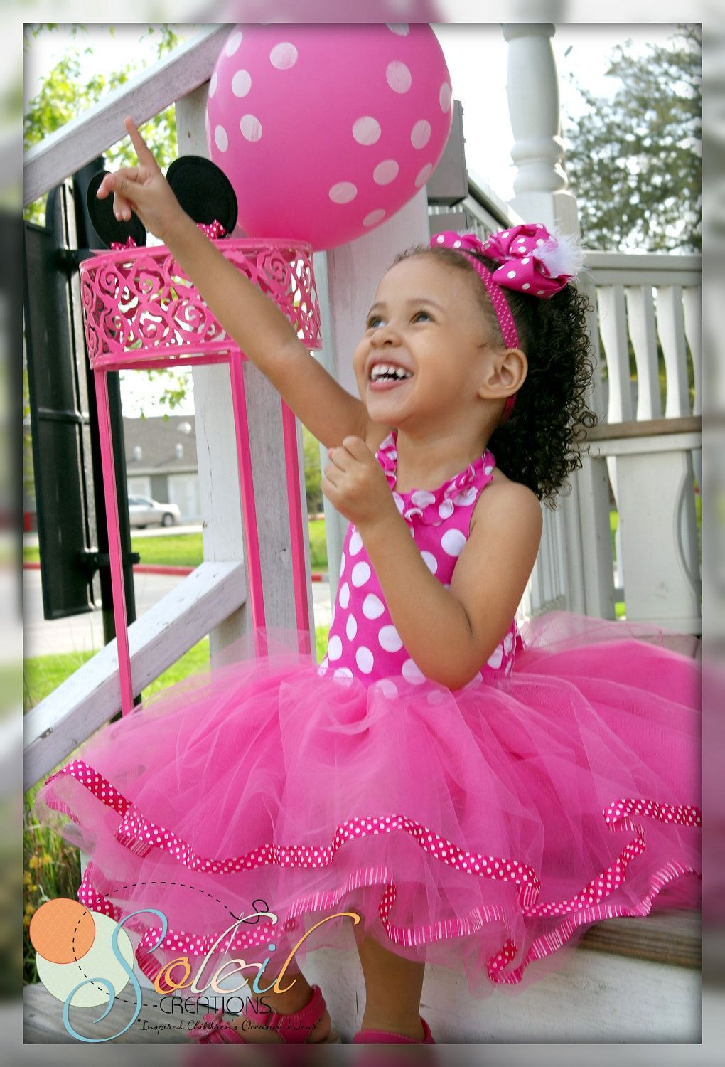 Minnie Mouse Dress In Pink Polka Dots 1st birthday. $59.99, via Etsy ...