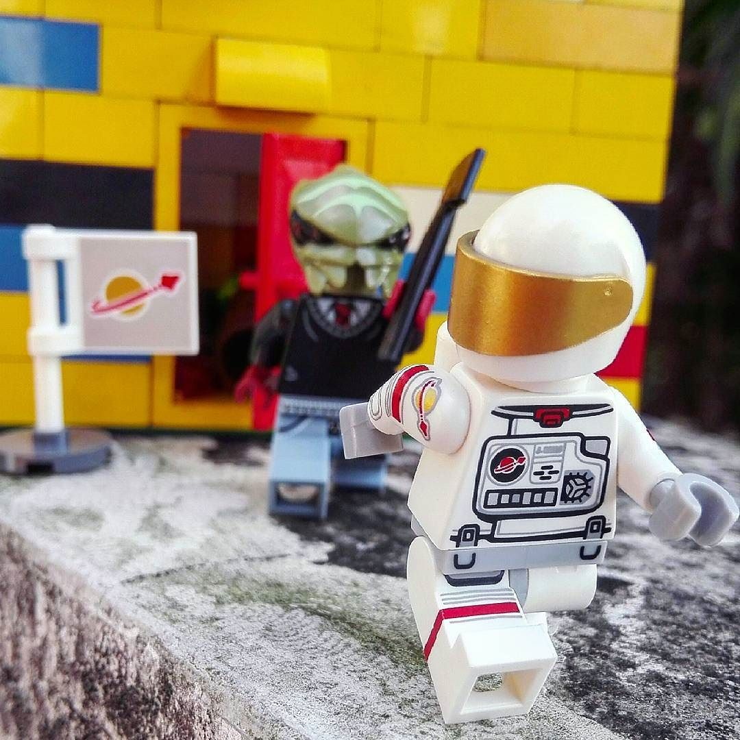 """Dagnabbit don't go planting your damn flag on my front lawn you darn astronaut!"" by figs_and_bricks"