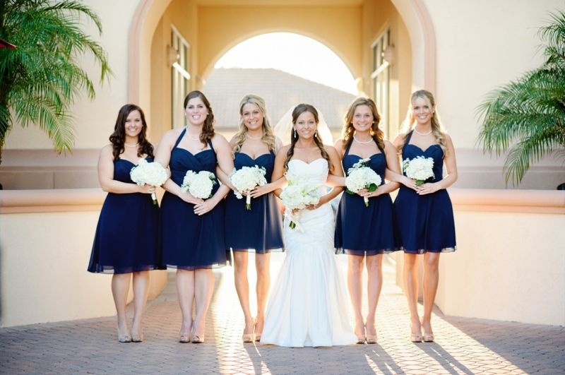 Clic Nautical Florida Wedding Navy Bridesmaid Dressesbeach