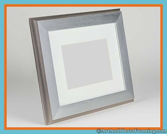 8x10 Picture Frame 8x10 Silver Frame 8x10 with Mat for 5x7 | Ready ...