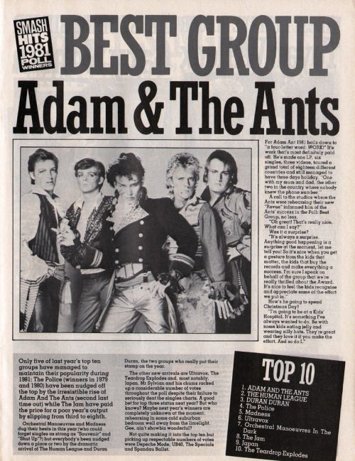 The 1981 Smash Hits Poll Shows Just How Rad Music Was In The Early