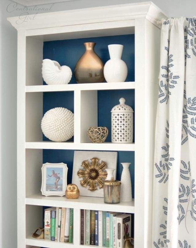 Nice Bookshelf Ideas: 25 DIY Bookcase Makeovers You Have To See: Add Molding To  Make It Look More Expensive