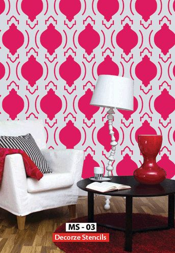 Stencils are simple to apply and instantly add character to a room ...
