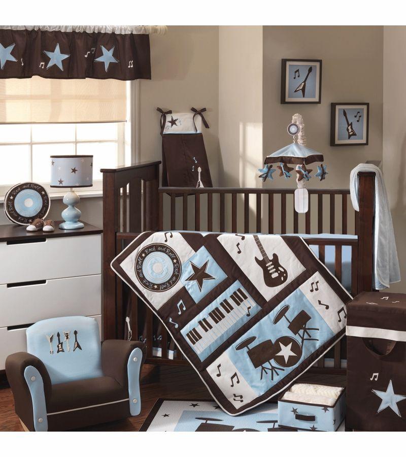 Lambs Ivy Rock N Roll 5 Piece Crib Bedding Set Baby Room Themes Baby Boy Cribs Boys Bedroom Sets