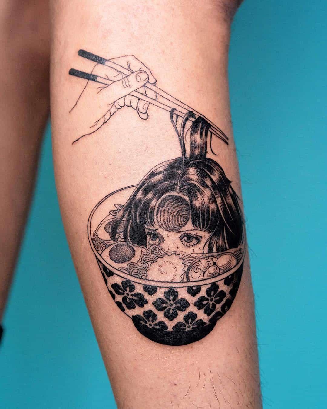 Tattoo Artist Oozy Food tattoos, Surreal tattoo, Sleeve