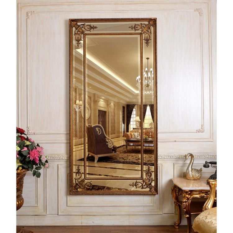 Gold Full Length Mirror Cimerio 183 X 91 Cm Exclusive Mirrors