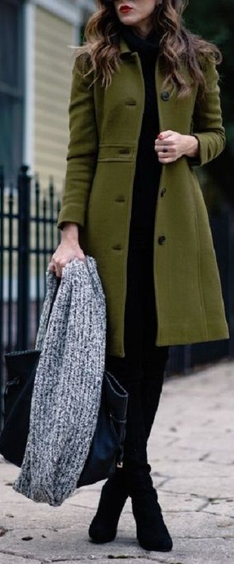 1c3efb924 casacos de cores quentes | W I N T E R | Winter outfits for work ...