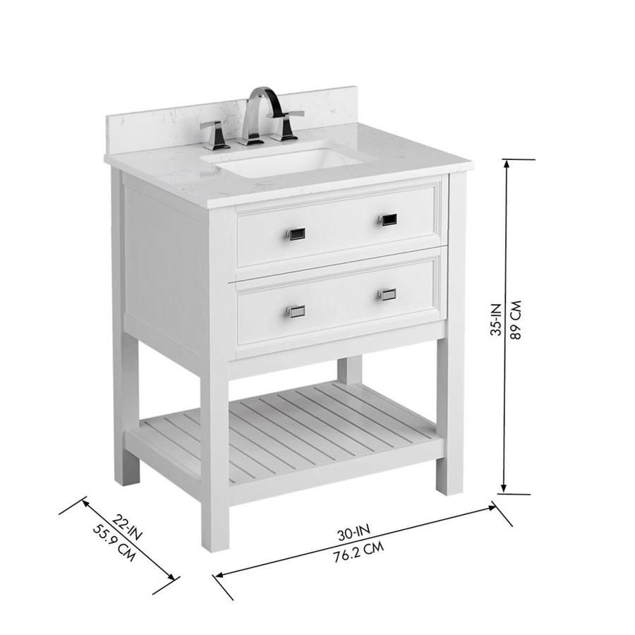 Scott Living Canterbury 30 In White Single Sink Bathroom Vanity