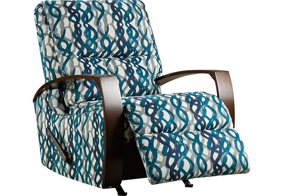 Best Basque Turquoise Accent Recliner Accent Chairs Blue 400 x 300