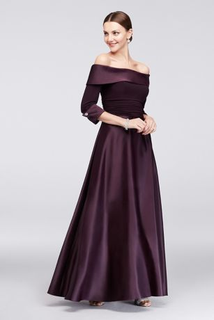 ca65c79da Lustrous satin gleams on this classic mother of the bride ball gown ...