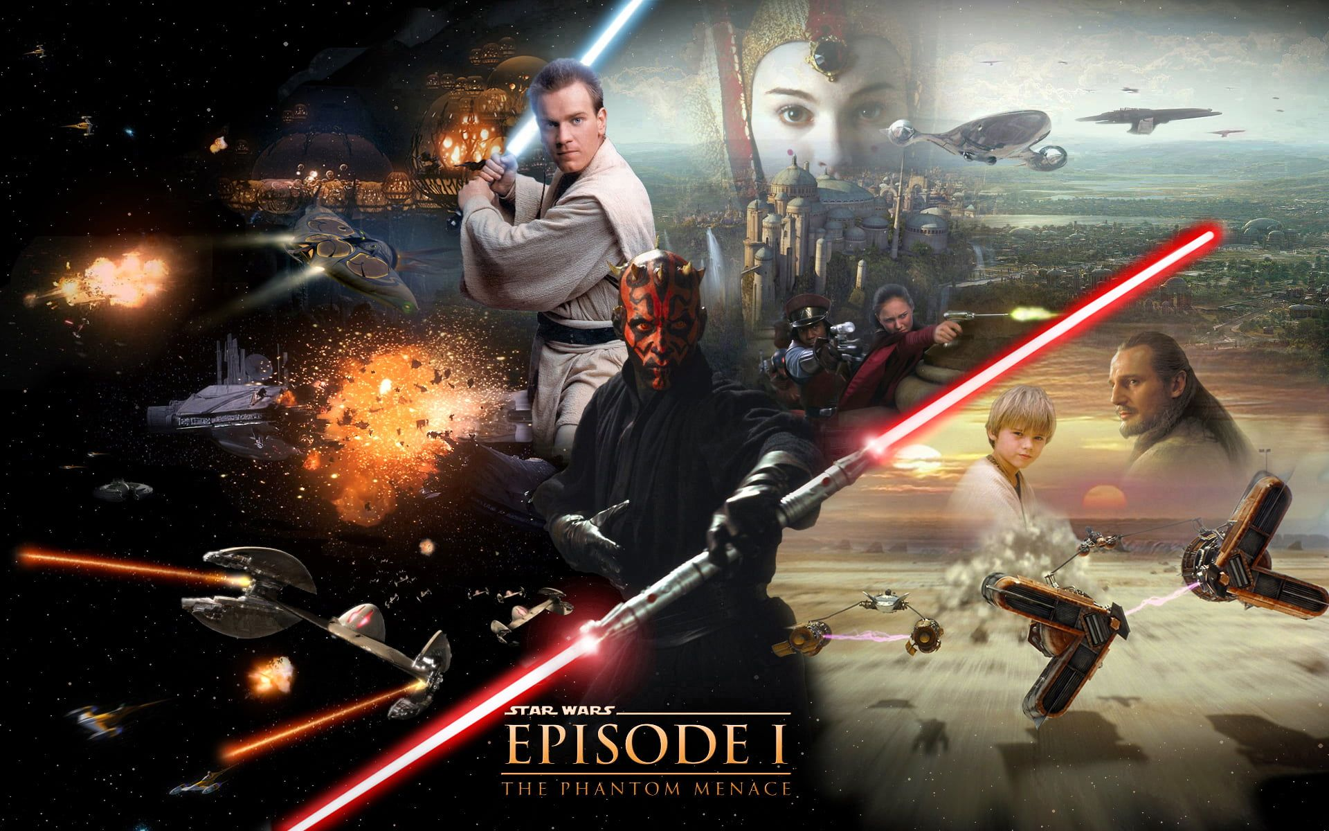 Star Wars Episode 1 The Phantom Menace Digital Wallpaper Star Wars Star Wars Darth Maul Lightsaber Lig In 2020 Star Wars Poster Star Wars Episodes The Phantom Menace