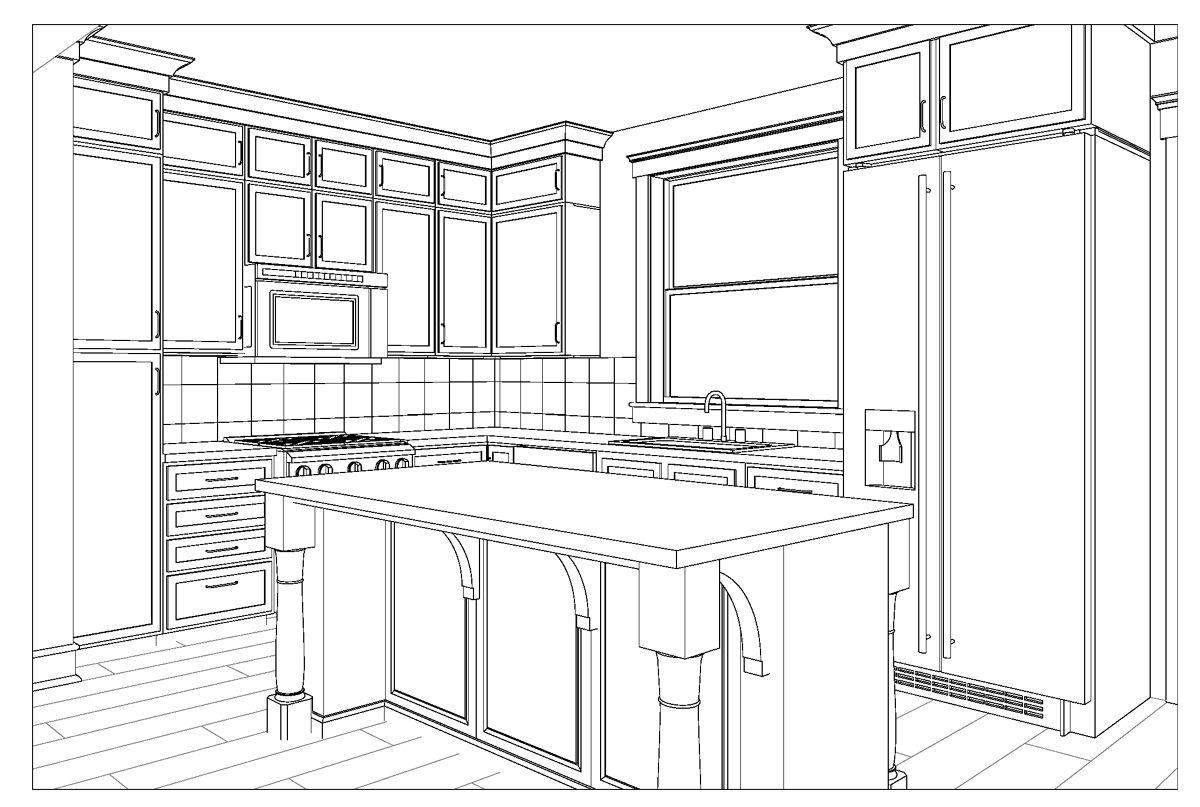 Kitchen   Small kitchen design layout, Kitchen drawing, Kitchen ...
