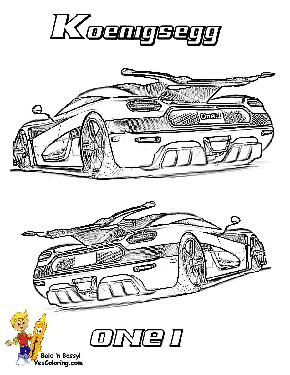 Print Out This Koenigsegg Supercar Coloring Picture Stop Foolin Tell Other Coloring Kids Your Eyeballs Found In 2021 Super Cars Koenigsegg Tractor Coloring Pages